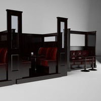 3d max irish bar seating