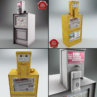newspaper street dispensers 3d max