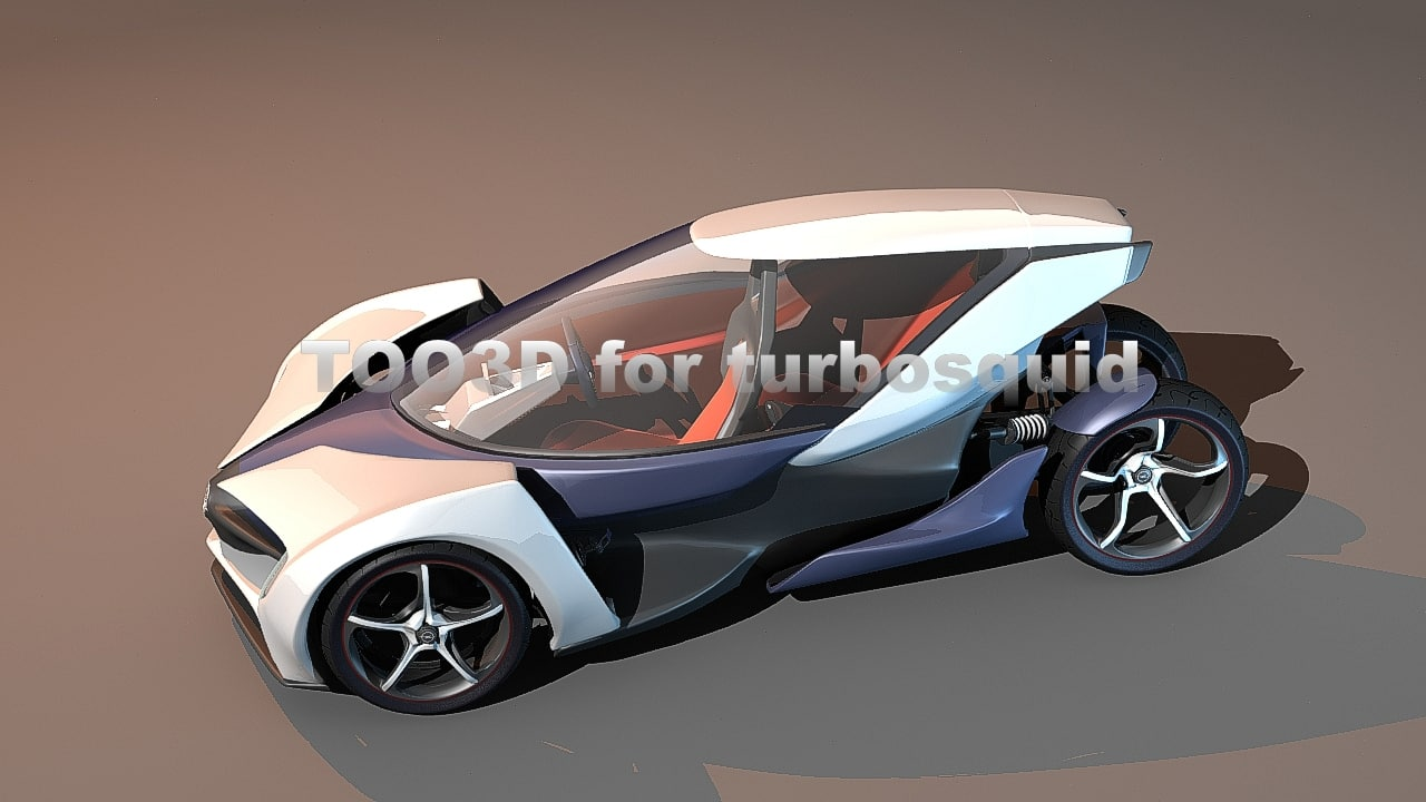 3d model of opel rak