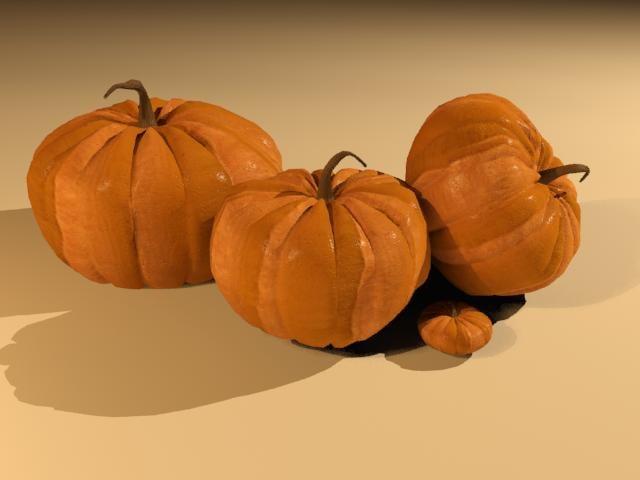 pumpkins fall halloween 3d model
