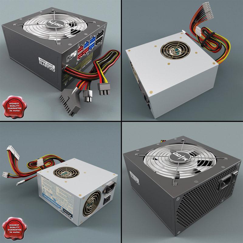 pc power supply units 3d model