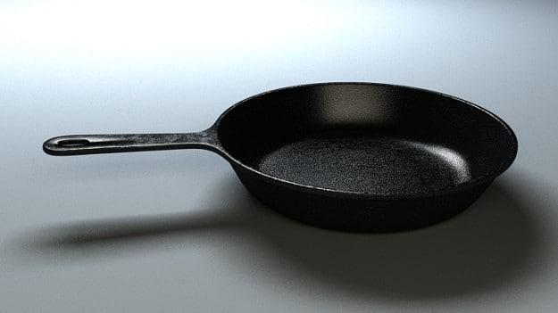 3d iron pan model