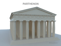 parthenon 3d obj