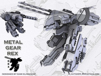 3d model robot metal gear rex