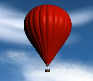 c4d hot air balloon