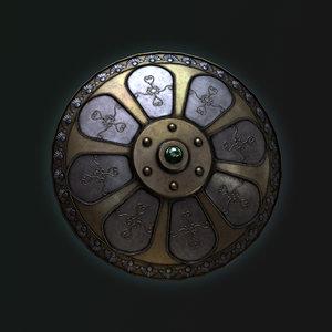 3d model fantasy medieval shield
