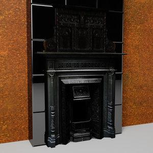 edwardian fireplace 3d max