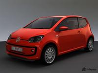 3d model of volkswagen up! 2012