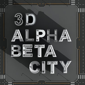 alphabetical city buildings 3d model