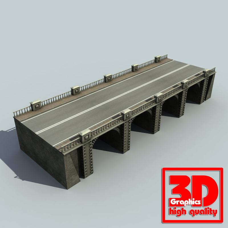 bridge set 3d max