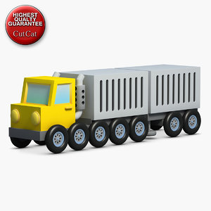 construction icons 03 truck trailer 3d max