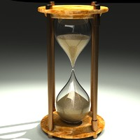 hourglass time sand 3d c4d