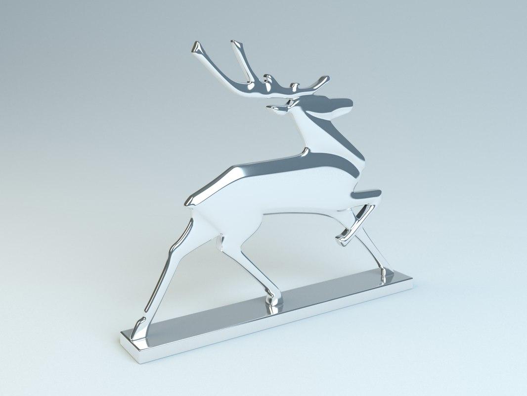 3d model deer gaz
