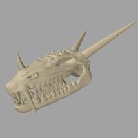 dragon skull 3d lwo