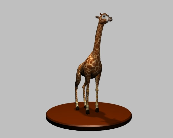 giraffe animals 3d model