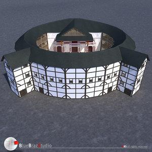3d model globe theatre
