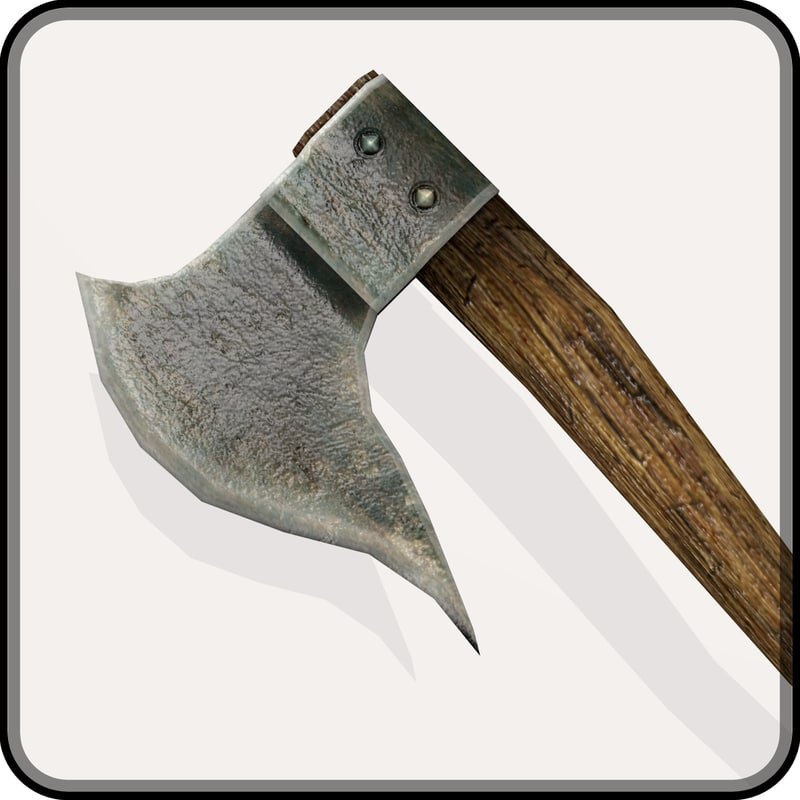 medieval battle axe 3ds