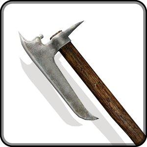3d model medieval battle axe