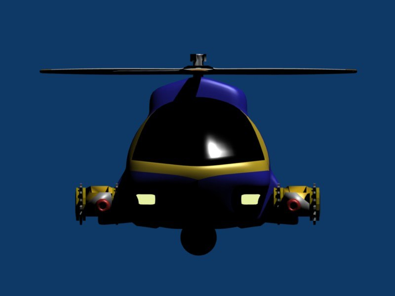 helicopter toon 3d model
