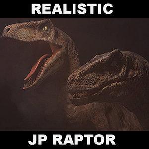 velociraptor jurassic park 3d ma