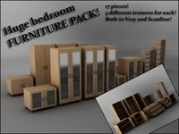 3d model bedroom furniture pack
