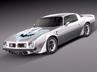3d pontiac firebird trans car