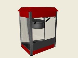 popcorn machine c4d