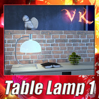3ds max modern table lamp 01