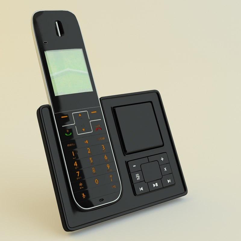 landline phone philips 3d model