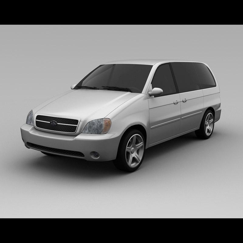 3d kia sedona 2005 van model