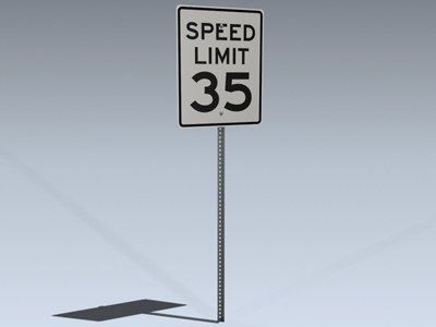 speed limit sign 3d 3ds