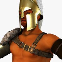3d model roman gladiator armor set
