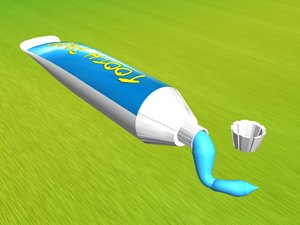 3d max tooth paste