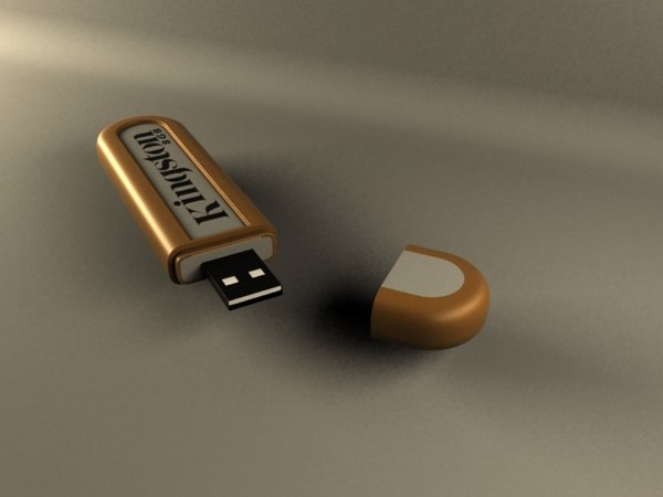 usb flash memory 3d model