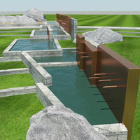 3d water feature