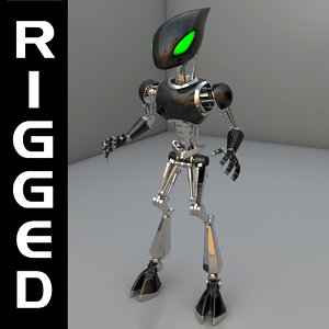 3d droid android model