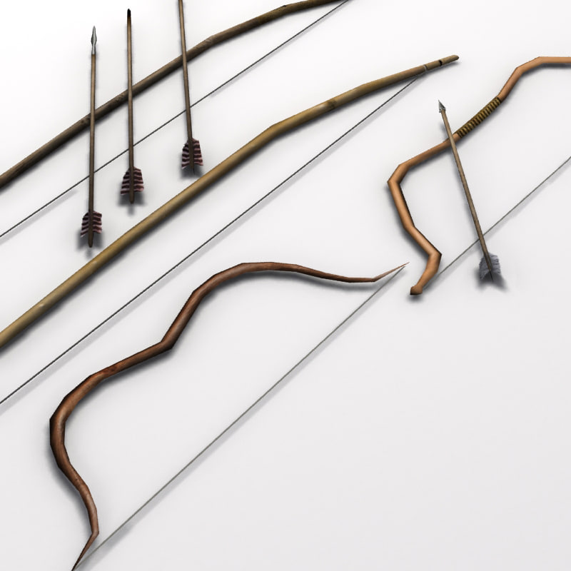 bows arrows 3d model