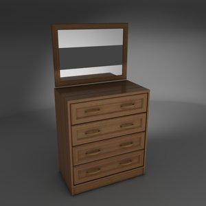 free commode bureau 3d model