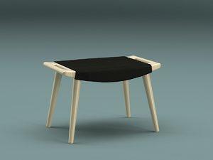 3ds foot-stool pp-120 j wegner