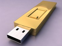 3d computer usb flash drive model