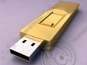 3d computer usb flash drive model