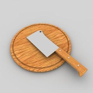 kitchen kitchen-hatchet hatchet 3d c4d