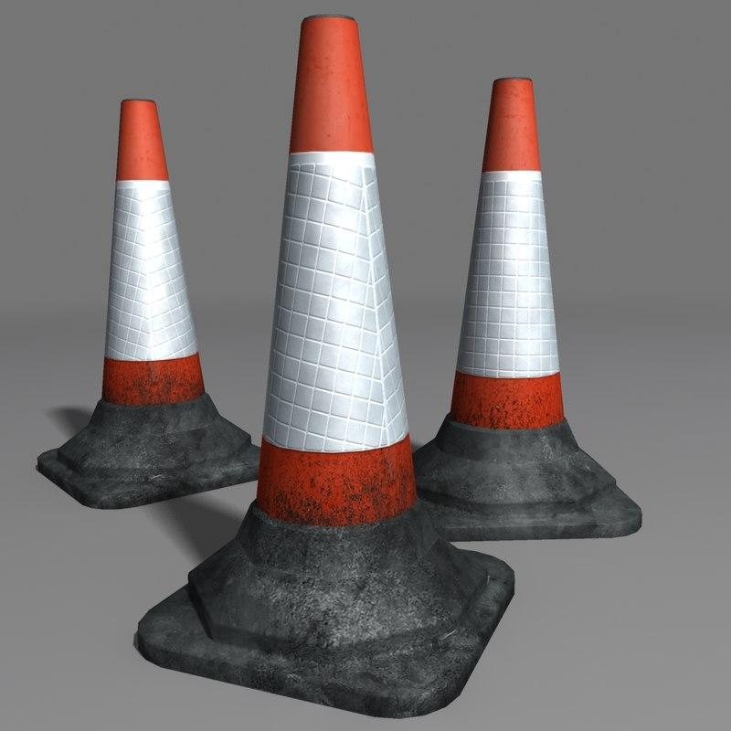 3d traffic cone coz100918512
