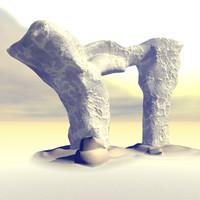 maya alien rocks terrain