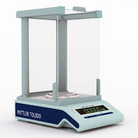 analytical balances scaled 3d model