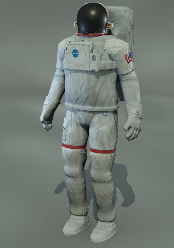 astronaut man 3d model