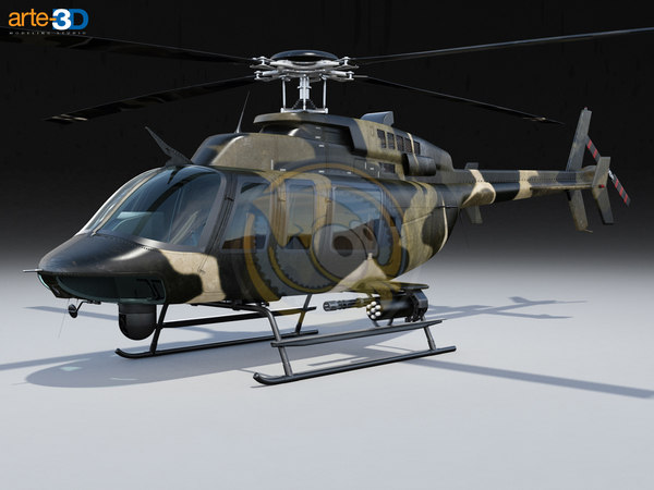 bell 407 helicopter 3ds