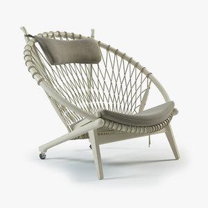 circle chair pp-130 3d max