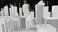 3d industrial city blender