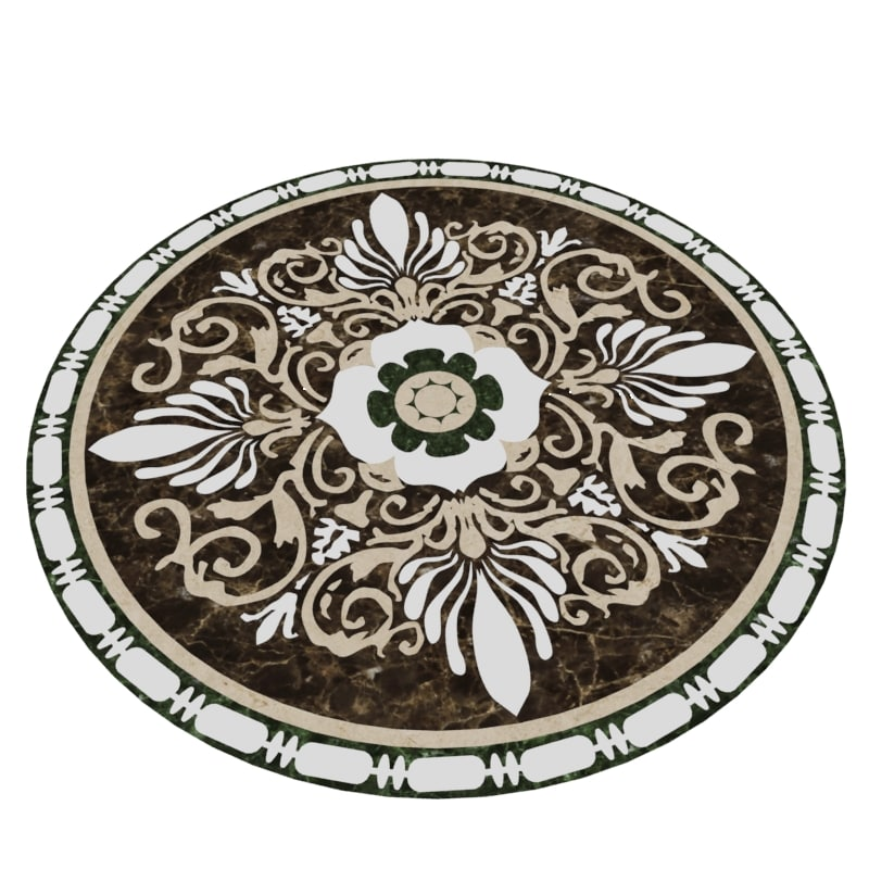 Floor Decor Rosette 3d Max